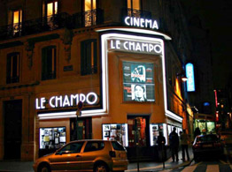 The Champo movie theater in Paris