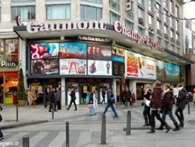 Paris movie theater on Champs Elysees