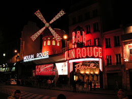 Paris nightlife: Moulin Rouge Cabaret