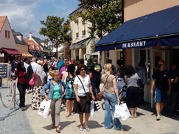 Shopping in La Vallee Village near Disneyland Paris