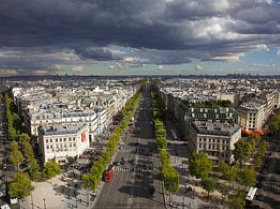 Champs Elysees are the most beautiful avenue in Paris