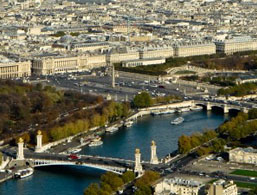Place de la Concorde from the sky