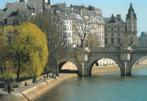 The Seine river banks and Pont Neuf