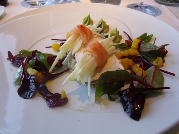 First course at Ciel de Paris