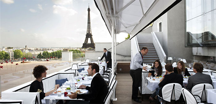 paris restaurants with a view. Black Bedroom Furniture Sets. Home Design Ideas