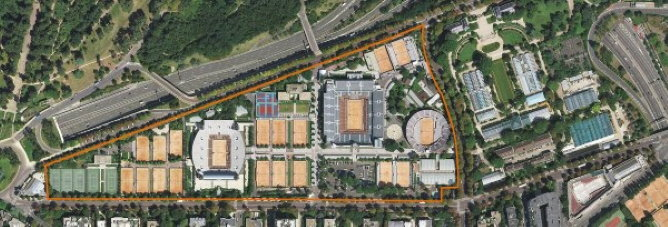 Map of Roland-Garros today