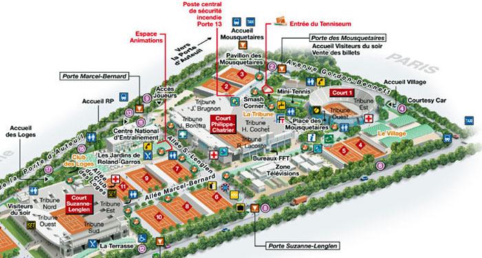 Roland Garros Location In Paris Map.Roland Garros 2019 Paris Facts Map Tickets Metro Stop