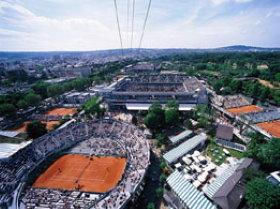 Roland Garros  Stadium in Bois de Boulogne