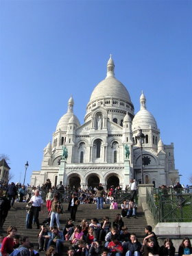 Sacre Coeur is in eighteenth arrondissement
