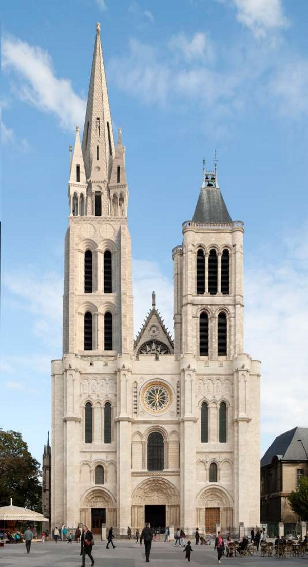 Saint-Denis Cathedral with the new spire