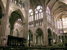 The nave of Saint Denis Cathedral