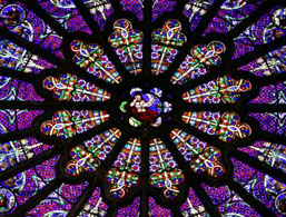 The rose window of Saint Denis Cathedral