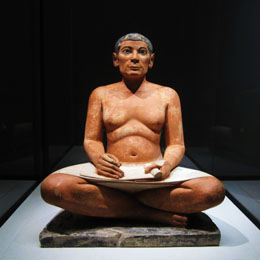 Seated Scribe - Egypt - Louvre