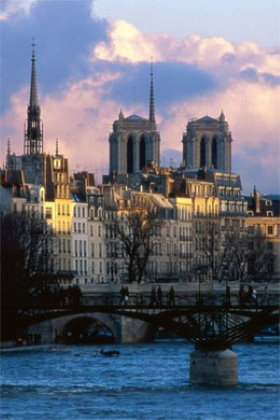 Notre Dame is on the banks of the Seine river