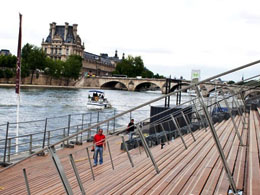 New Seine quays near Orsay Museum