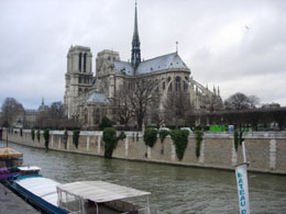 Notre Dame from Seine River quays in Paris
