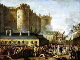 Taking of the Bastille prison on July 14th 1789
