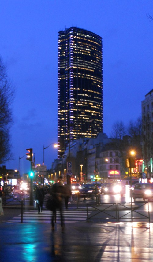 The Tour Montparnasse towers above Montparnasse district