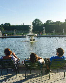 Relaxing in Les Tuileries Gardens