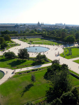 Les Tuileries Gardens in Paris