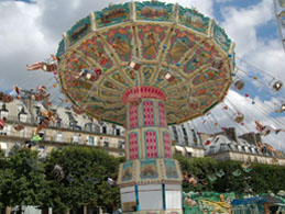 Tuileries Funfair is open in July and August