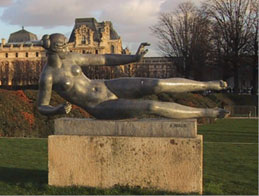 Maillol statue in Tuileries Gardens