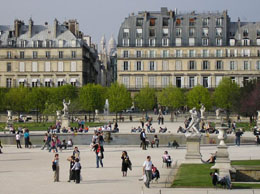 Les Tuileries Gardens and Louvre in Paris