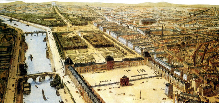 Tuileries Palace in 1840