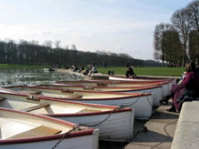 Canoes on Grand Canal in Versailles Park