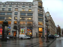 Louis Vuitton fashion store in Paris